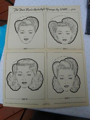1940s HAIR Ivan of Hollywood Creative Hairshaping & Hairstyling Technique Guide