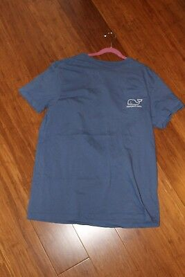 Boys Vineyard Vines Weathered Blue T- Shirt Whale Perfect Size Xl