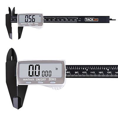 Tacklife DC01 Digital Caliper 6 Inch with 2 inches Wide Super Clear Display