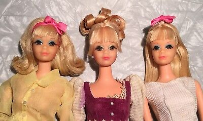 Lot of 3 OOAK Vintage PJ Heads with Different Hairstyles No Bodies by Arnaldo