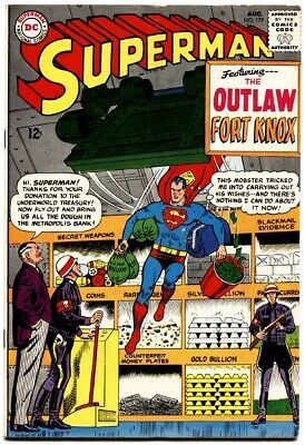 Superman #179-1965-august-fort Knox-amazing! Fn