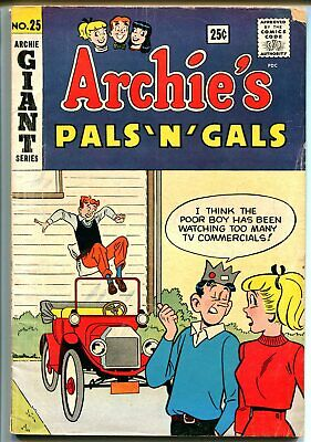 Archie's Pals 'n' Gals #25 1963-MLJ-Betty-Veronica-Giant issue-pin-ups-G/VG