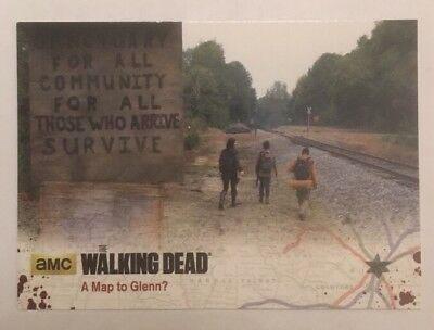 #52 A Map To Glenn? Card The Walking Dead Season 4 Part 2