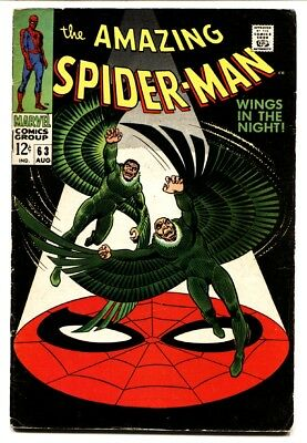Amazing Spider-Man #63 1968 -Vulture cover- Silver Age VG+