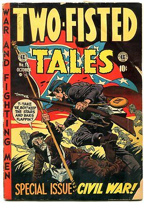 Two-Fisted Tales #35 1953- Davis cover- EC golden age war VG-