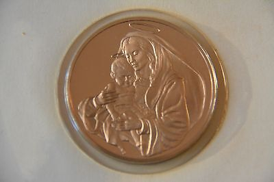 1974 Bronze Coin - Madonna and Child by the Franklin Mint
