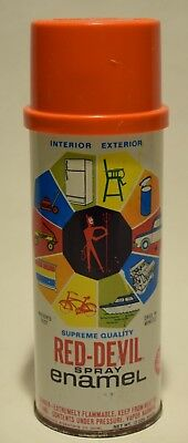 Red Devil Supreme Quality Fat Lip FLAME VTG Spray Paint Can Aerosol