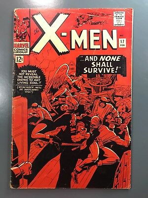 The X-Men No. #17 (1966) Silver Age Stan Lee Jack Kirby Cover Art Magneto Cameo