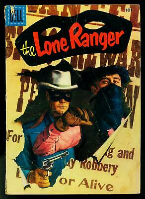 The Lone Ranger #98 1956- Hollow Hero- Dell Western- G