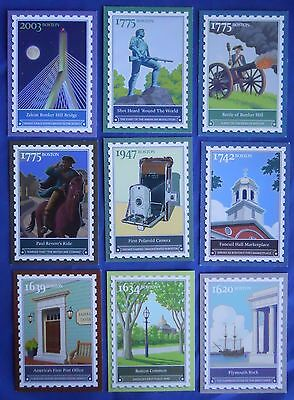 ebay Live Boston 2007 Stamp Trading Cards Plymouth Rock Post Office Set