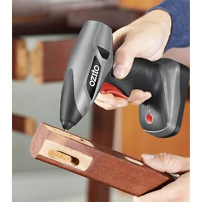 OZITO Hot Glue Gun Cordless Electric Heating Melt Sticks Adhesive Craft Repairs
