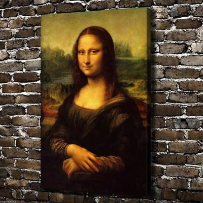 24x36HD Canvas print Art painting,The classic Mona Lisa smile(No frame)