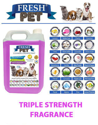 Pet Disinfectant Cleaner Sanitiser 5L - Triple Strength Fragrance - FRESH PET