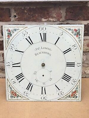 Early 30 Hour Longcase / Grandfather Clock Dial & Movement