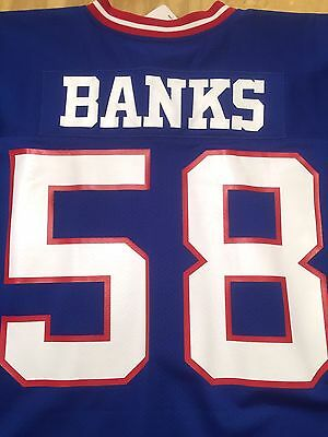 Discount CARL BANKS NEW York Giants Mitchell & Ness 1986 Spider Patch NFL  hot sale
