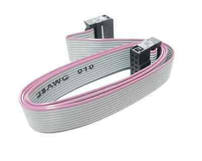 70CM 10 Pin USBISP USBASP JTAG AVR Download Wire Ribbon Cable 2.54mm Cable m