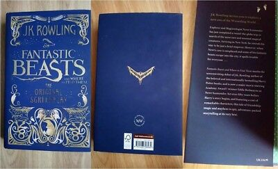 Fantastic Beasts and where to find them The Original Screenplay Brand New Hard B