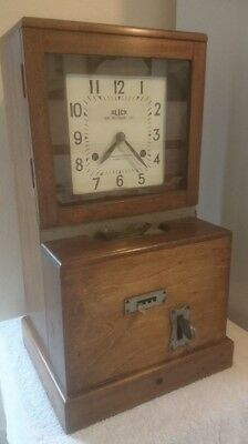 Heavy 'blick' Time Recorder/ Clock 1930's Pattern