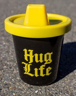 Hug Life Sippy Cup Toddler Baby Shower Cute Novelty Fun Gift Cool Black BPA Free