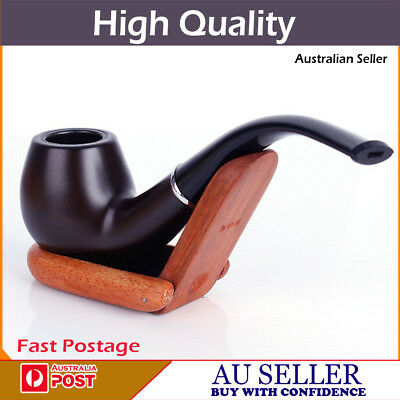 High Quality Durable Ring Stylish Tobacco Smoking Smoke Wooden Look Pipe   ***au