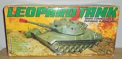 Vintage Radio Controlled RC Leopard Tank