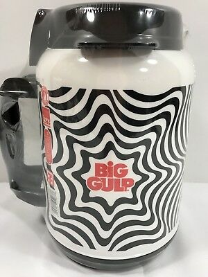 Big Gulp Mug Psychedelic 7 Eleven 52 Oz Thermos Whirley Black White New Sealed