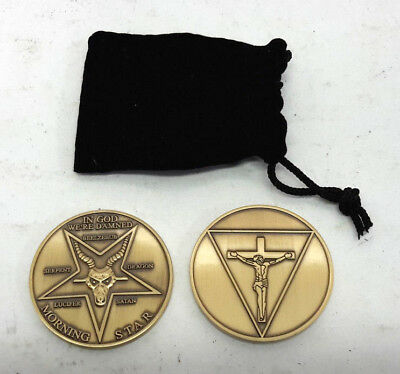 """Lucifer Morningstar TV Prop 1.75"""" DELUXE Bronze Challenge Coin in Pouch"""