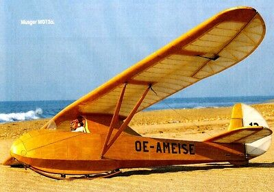 High quality RC 1:4 Scale Glider Plan, 'Musger MG.12a'' Historic Sailplane