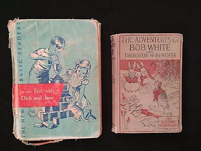 Antique Old Books Fun with Dick And Jane 1956 The Adventures of BOB WHITE 1922