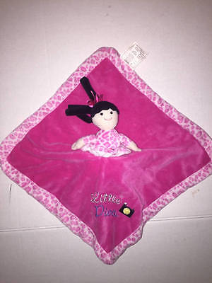 Little Diva Born to Shop Baby Connections Pink Security Blanket Clutch Lovie