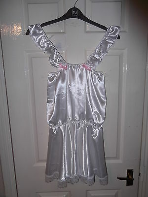 Adult Baby~Sissy~Maids~Unisex~ Satin And Lace Nix & Babydoll ~ Nightie Set