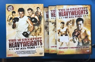 the 10 greatest boxing heavyweights of all time,triple dvd