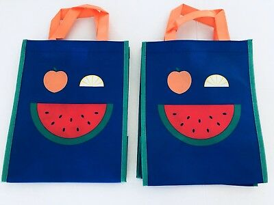 Whole Foods Market Reusable Bag Hy Fruit Eco Friendly Tote Set Of 2 Nwt