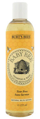 Burt's Bees BABY BEE Organic Tear Free SHAMPOO & WASH 235ml Natural Cleanser