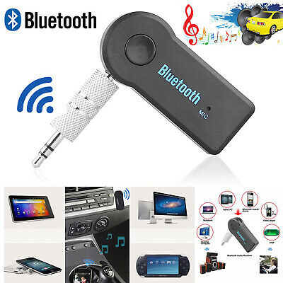 3.5mm Wireless USB Bluetooth Receiver Aux Stereo Audio Music Car Adapter MP3 Mic