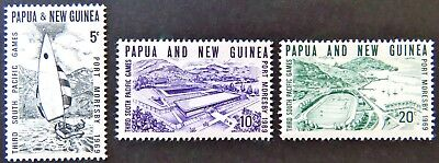 1969 Papua New Guinea Stamps - Third South Pacific Games - Set of 3 MNH
