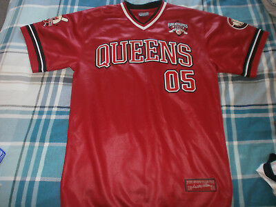 Fubu Vintage  Athletics , Queens  05  Baseball  Jersey , Red , Limited  Edition