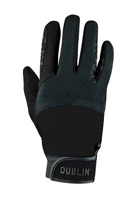 DUBLIN CROSS COUNTRY RIDING GLOVES II ADULTS in Black/Black