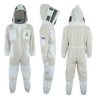 Bee Sting 3 Layer beekeeping full suit ventilated jacket Astronaut veil@L-UK3