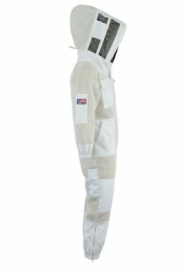 Bee Sting 3 Layer beekeeping full suit ventilated jacket Astronaut veil@XL-UK3