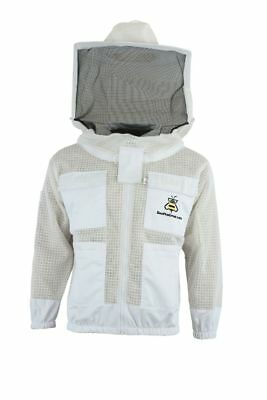 Bee Beekeeper 3 Layer Ultra Ventilated beekeeping jacket Round veil@XL-UK2