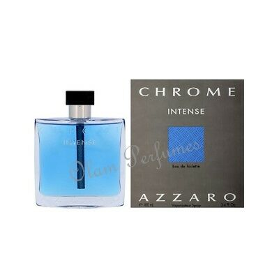 c6f0de31527067 Azzaro Chrome Intense Eau de Toilette Spray Men 3.4oz 100ml   New in Box  Sealed