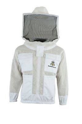 Bee Beekeeper 3 Layer Ultra Ventilated beekeeping jacket Round veil@S-UK2