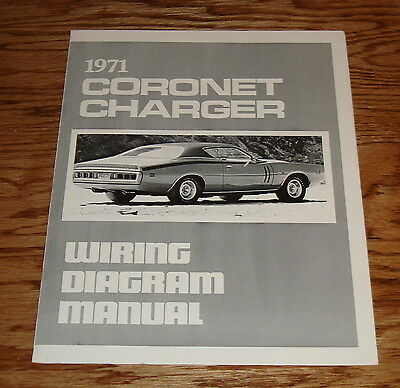 1971 dodge coronet charger wiring diagram manual 71 9 00 picclick rh picclick com
