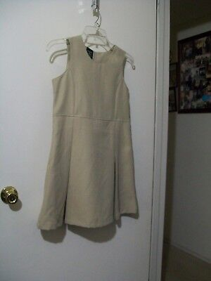 George girl khaki school dress size 10