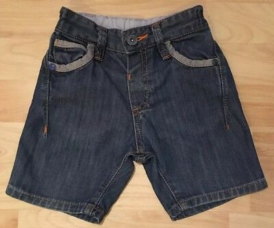 Boys Ted Baker Denim Shorts With Elasticated Waist. Size 12-18 Months