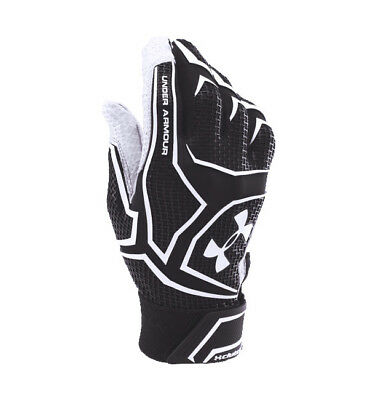 UNDER ARMOUR Black/White UA YARD CLUTCH BATTING GLOVES BASEBALL ADULT MENS M NEW