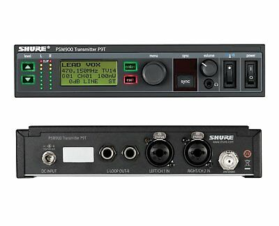 Shure P9T-G7 PSM900 IEM Transmitter In-Ear Monitor | Band G7 (506-542MHz) | New