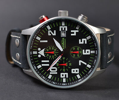ASTROAVIA XL AIR CRAFT 22L NEW EDITION 6 ZEIGER CHRONOGRAPH 44mm FLIEGERUHR 22.1