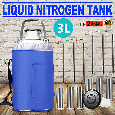 3L LIQUID NITROGEN  CONTAINER LN2 TANK DEWAR Vaccines Portable Light Weight